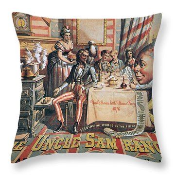 Uncle Sam Range Ad, 1876 Throw Pillow by Granger