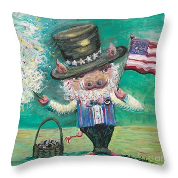 Uncle Spam Throw Pillow by Nadine Rippelmeyer
