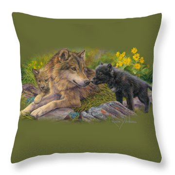 Unconditional Love Throw Pillow by Lucie Bilodeau