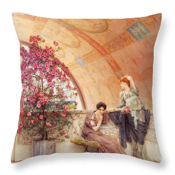 Unconscious Rivals Throw Pillow by Sir Lawrence Alma Tadema