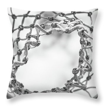 Under The Net Throw Pillow by Karol Livote