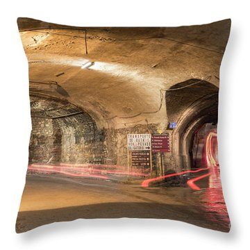 Underground Tunnels In Guanajuato, Mexico Throw Pillow by Juli Scalzi