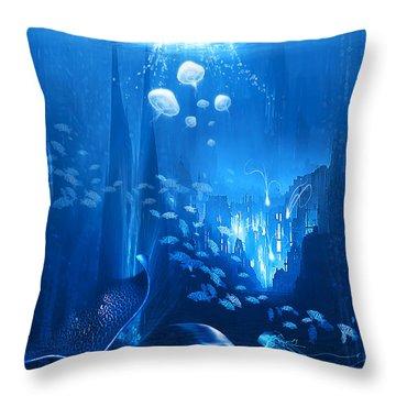 Underwater World Throw Pillow by Svetlana Sewell