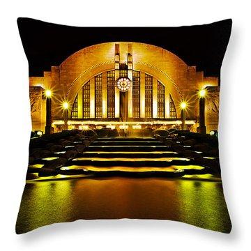 Union Terminal Throw Pillow by Keith Allen