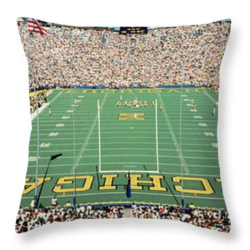 University Of Michigan Stadium, Ann Throw Pillow by Panoramic Images