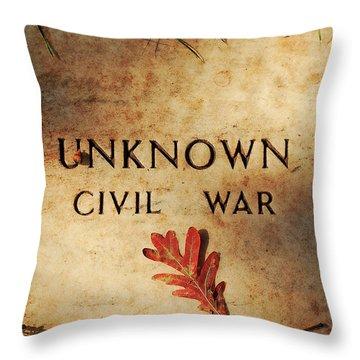 Unknown Civil War Throw Pillow by Kathleen K Parker