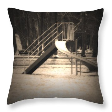 Unsafe Throw Pillow by Cathy  Beharriell