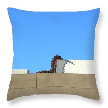 Up On The Roof Throw Pillow by Lin Haring