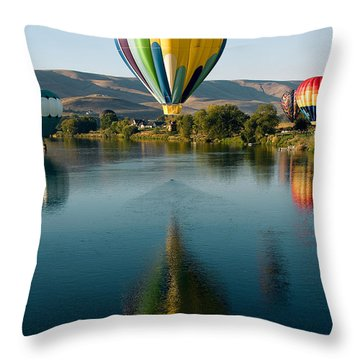 Up Up In The Air Throw Pillow by David Patterson