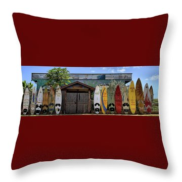 Upcountry Boards Throw Pillow by DJ Florek
