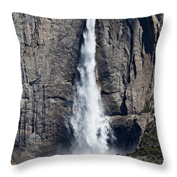 Upper Yosemite Falls Throw Pillow by Garry Gay