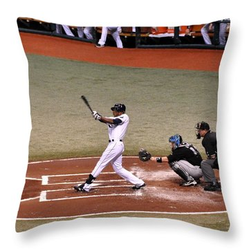 Upton At The Plate Throw Pillow by John Black