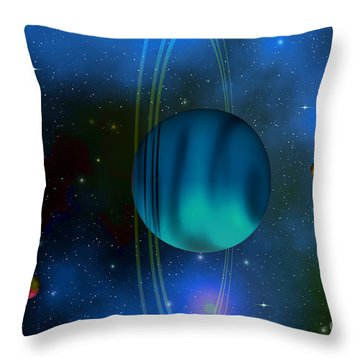 Uranus Throw Pillow by Corey Ford