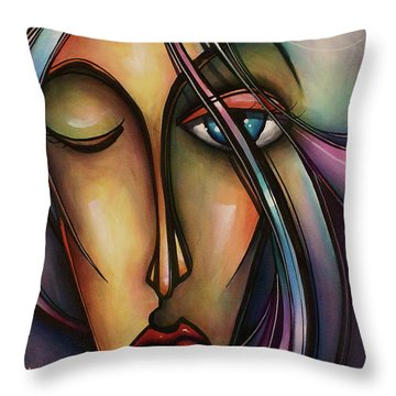 Urban Design Throw Pillow by Michael Lang