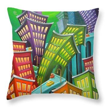 Urban Vertigo Throw Pillow by Eva Folks