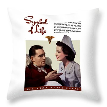Us Army Nurse Corps Throw Pillow by War Is Hell Store