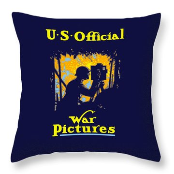 U.s. Official War Pictures Throw Pillow by War Is Hell Store