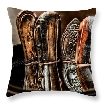 Utensils Reflected Throw Pillow by Christopher Holmes