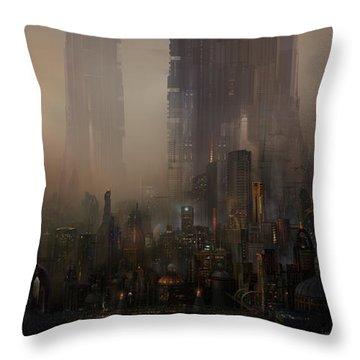 Utherworlds Cohabitations Throw Pillow by Philip Straub