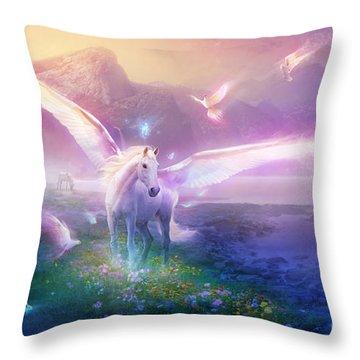 Utherworlds Winter Dawn Throw Pillow by Philip Straub