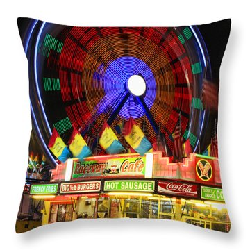 Vacant Carnival Bench Throw Pillow by James BO  Insogna
