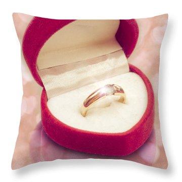 Valentine Ring Throw Pillow by Wim Lanclus