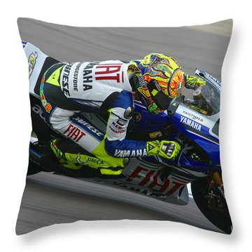 Throw Pillows Magnolia : Valentino Rossi Photograph by Henk Meijer Photography