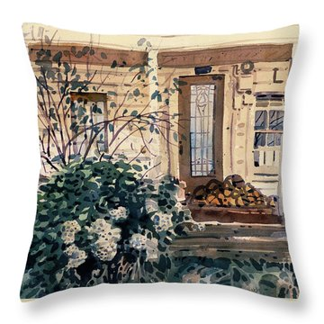 Valley Ford House Throw Pillow by Donald Maier