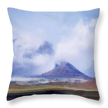 Valley Of The Gods Throw Pillow by Leland D Howard