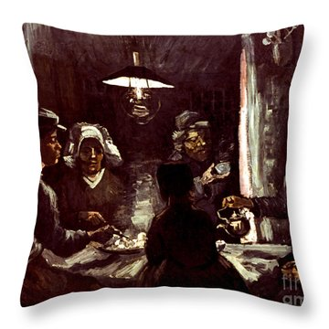 Van Gogh: Meal, 1885 Throw Pillow by Granger