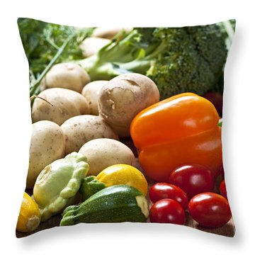 Vegetables Throw Pillow by Elena Elisseeva