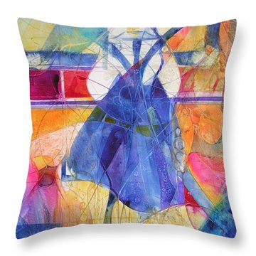 Vermeer Was Here Throw Pillow by Annika Farmer