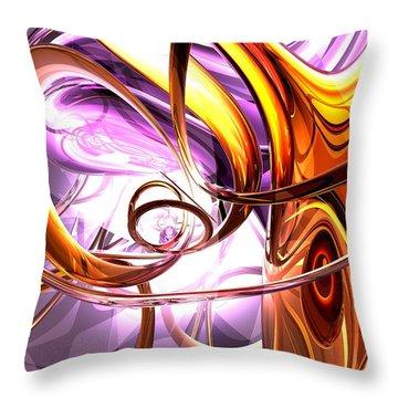 Vicious Web Abstract Throw Pillow by Alexander Butler