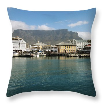 Victoria And Alfred Waterfront Throw Pillow by Oliver Johnston