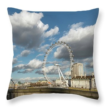 Victoria Embankment Throw Pillow by Adrian Evans