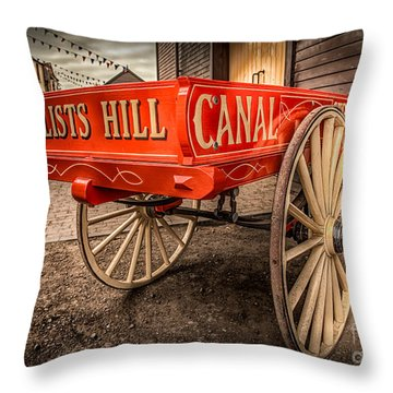 Victorian Cart Throw Pillow by Adrian Evans