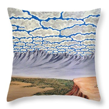View From The Mesa Throw Pillow by Marco Morales