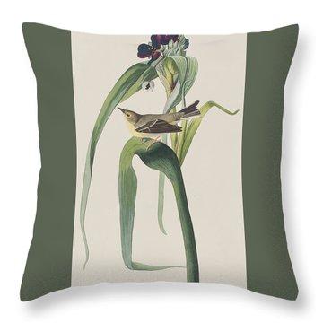 Vigor's Warbler Throw Pillow by John James Audubon