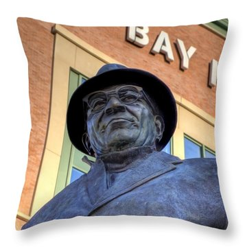 Vince Lombardi Throw Pillow by Joel Witmeyer