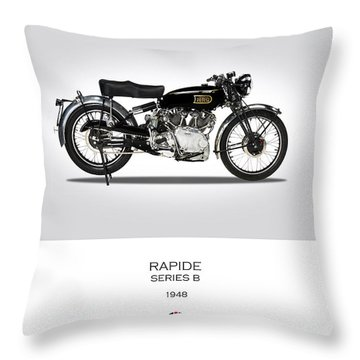 Vincent Hrd Rapide 1948 Throw Pillow by Mark Rogan