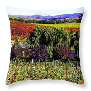 Vineyard 5 Throw Pillow by Xueling Zou