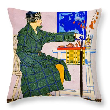 Vintage Clothing Advertisement 1910 Throw Pillow by Padre Art