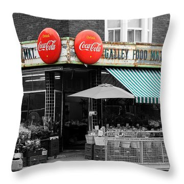 Vintage Coca Cola Signs Throw Pillow by Andrew Fare
