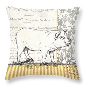 Vintage Farm 2 Throw Pillow by Debbie DeWitt