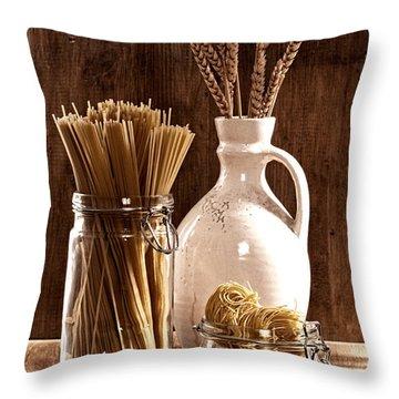 Vintage Pasta  Throw Pillow by Amanda Elwell