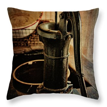 Vintage Sink Throw Pillow by Lana Trussell