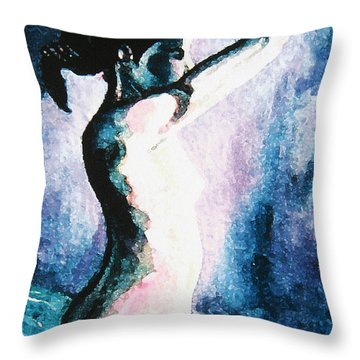 Violet Nude Throw Pillow by John Keaton