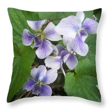 Violets 2 Throw Pillow by Anna Villarreal Garbis