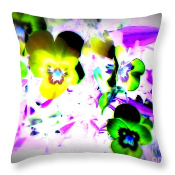 Violets Throw Pillow by Pauli Hyvonen