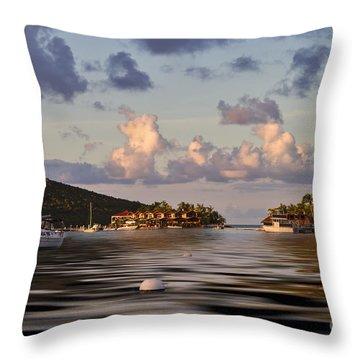 Virgin Gorda Throw Pillow by Louise Heusinkveld